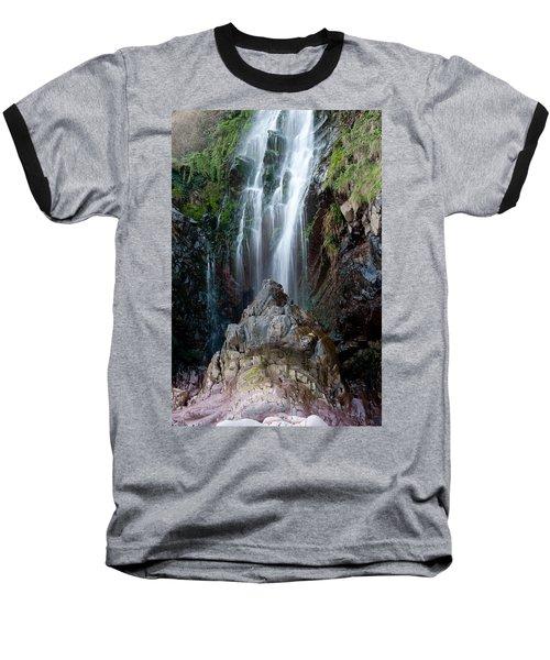 Clovelly Waterfall Baseball T-Shirt