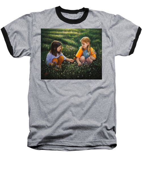 Baseball T-Shirt featuring the painting Clover Field Surprise by Glenn Beasley