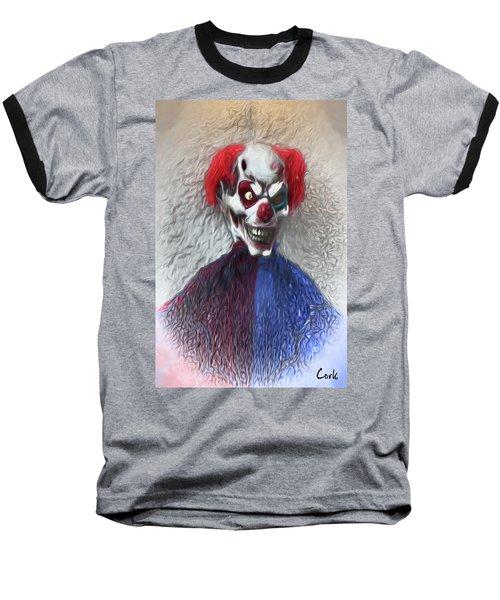 Baseball T-Shirt featuring the digital art Clownitis by Terry Cork