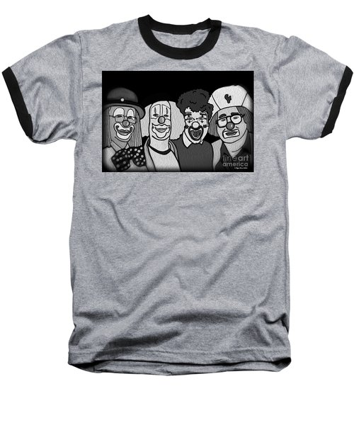 Clowns Bw Baseball T-Shirt
