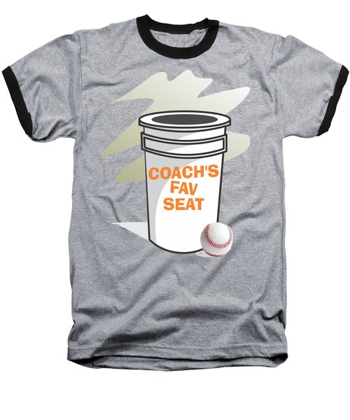Coach's Favorite Seat Baseball T-Shirt by Jerry Watkins