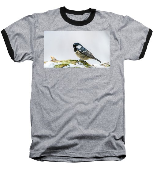 Baseball T-Shirt featuring the photograph Coal Tit's Profile by Torbjorn Swenelius