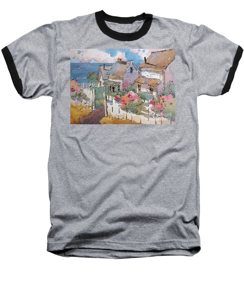 Coastal Cottages Baseball T-Shirt