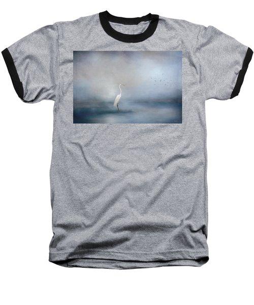 Coastal Egret Baseball T-Shirt