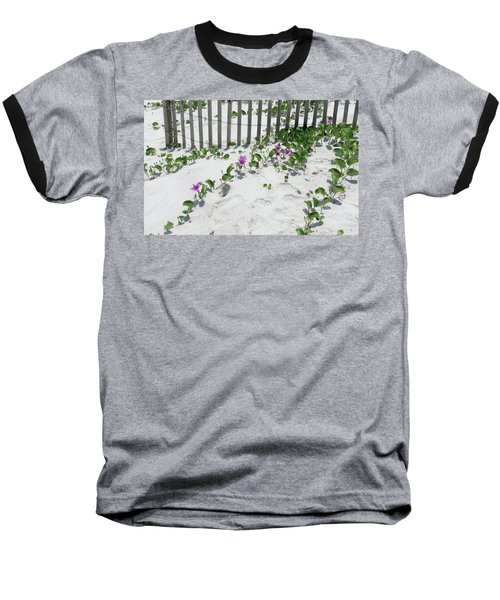 Coastal Flowers Baseball T-Shirt