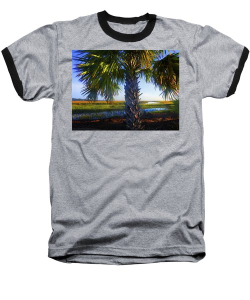 Coastal High Tide  Baseball T-Shirt by Laura Ragland