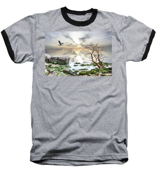Coastal Landscape  Baseball T-Shirt by Angel Jesus De la Fuente