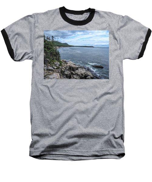 Coastal Landscape From Ocean Path Trail, Acadia National Park Baseball T-Shirt