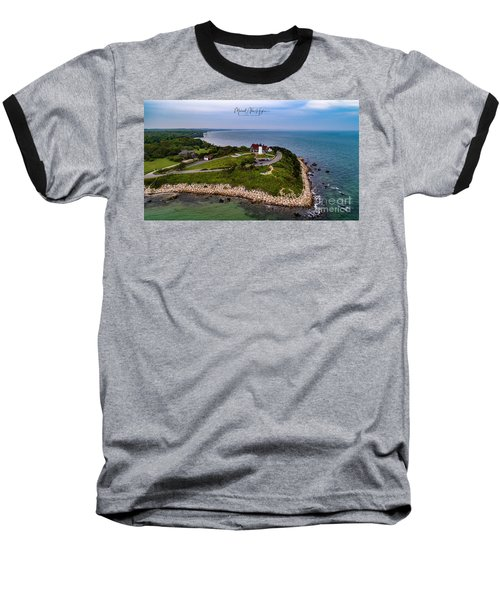 Coastal Nobska Point Lighthouse Baseball T-Shirt
