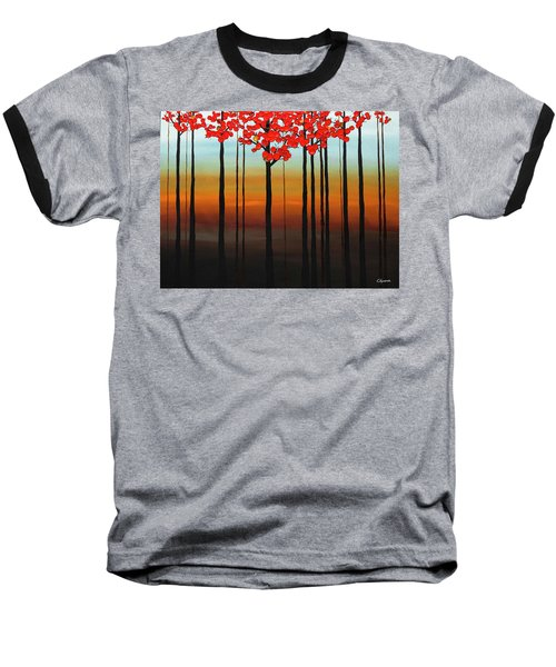 Baseball T-Shirt featuring the painting Coastal Radiance by Carmen Guedez