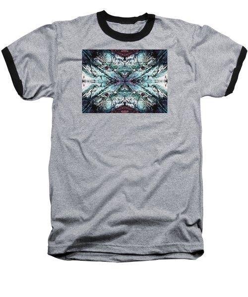 Coastal Rocks Brillig Turquoise Kaleidoscope Effect Baseball T-Shirt