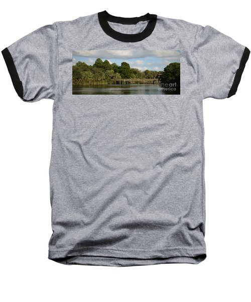 Baseball T-Shirt featuring the photograph Coastal Serenity by Pamela Blizzard