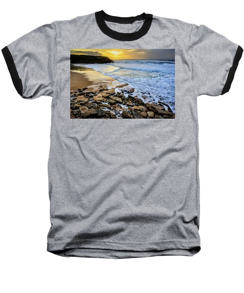 Baseball T-Shirt featuring the photograph Coastal Sunset by Marion McCristall