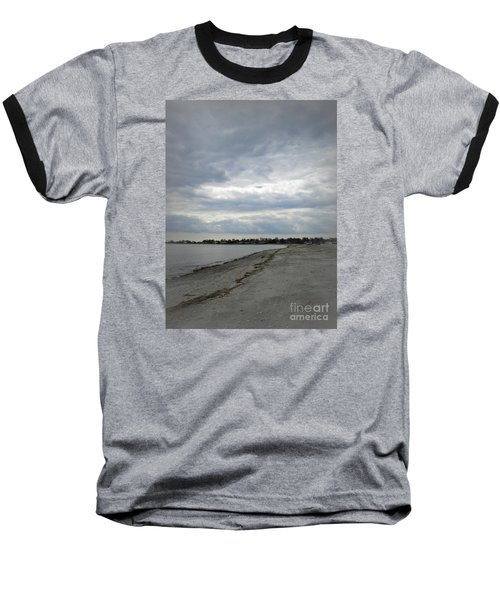 Coastal Winter Baseball T-Shirt by Kristine Nora