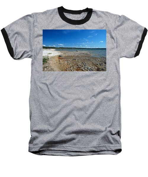 Coastline Of Lake Michigan  Near Petoskey State Park - Little Traverse Bay Baseball T-Shirt by Janice Adomeit