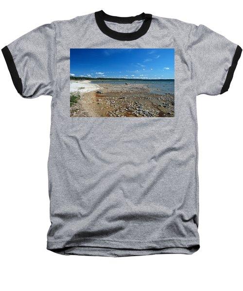Coastline Of Lake Michigan  Near Petoskey State Park - Little Traverse Bay Baseball T-Shirt