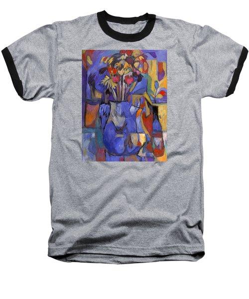 Cobalt Rose Baseball T-Shirt