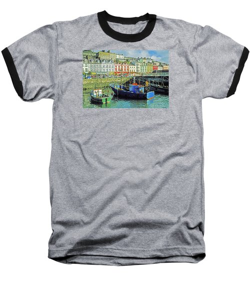Cobh Harbour Baseball T-Shirt by Dennis Cox WorldViews