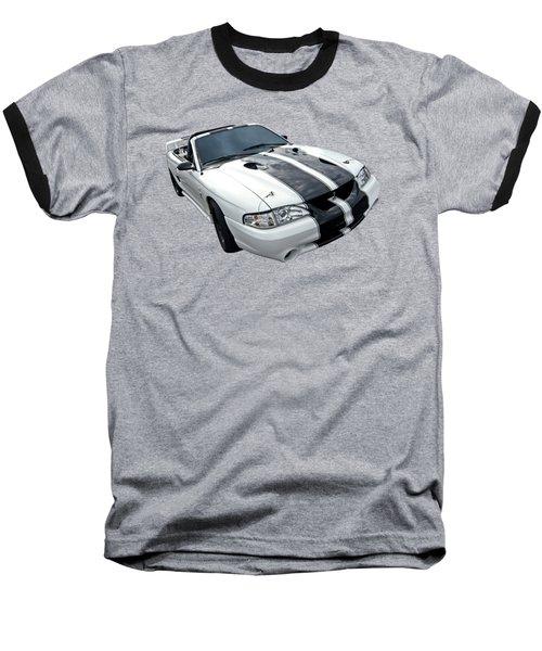Cobra Mustang Convertible Baseball T-Shirt by Gill Billington