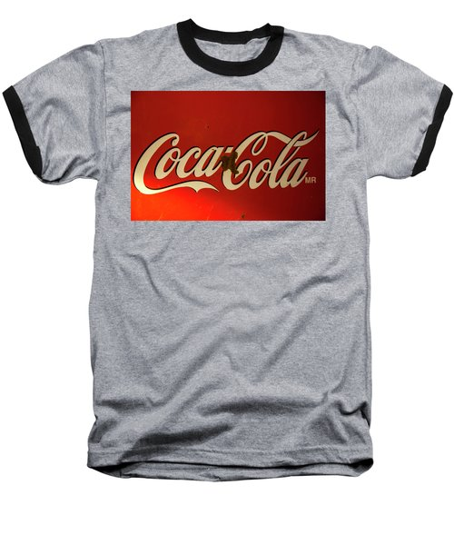 Baseball T-Shirt featuring the photograph Coca-cola Sign  by Toni Hopper