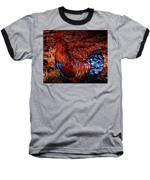 Cock Rooster Baseball T-Shirt