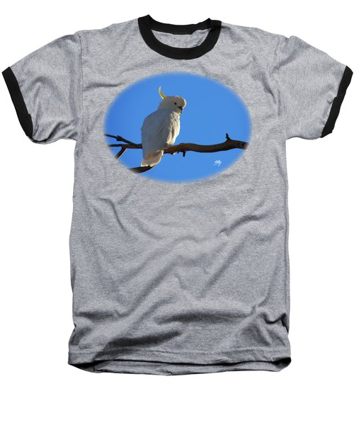 Cockatoo Baseball T-Shirt by Linda Hollis