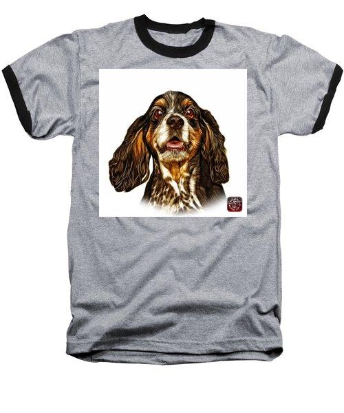 Cocker Spaniel Pop Art - 8249 - Wb Baseball T-Shirt by James Ahn