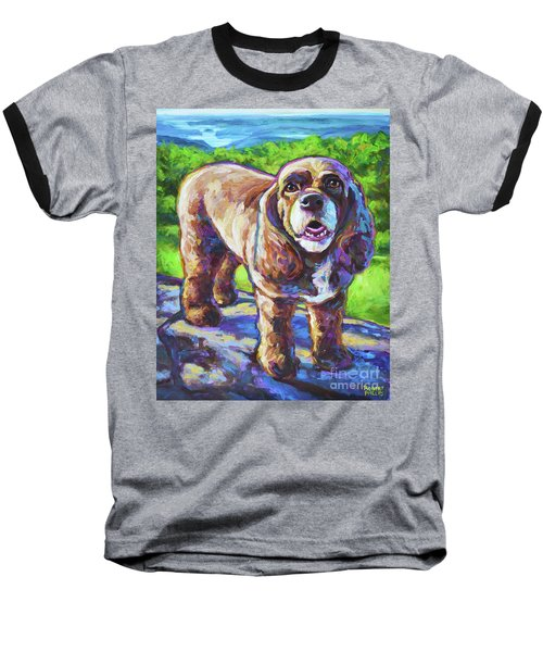 Baseball T-Shirt featuring the painting Cocker Spaniel  by Robert Phelps