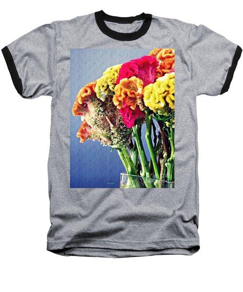 Baseball T-Shirt featuring the photograph Cockscomb Bouquet 2 by Sarah Loft