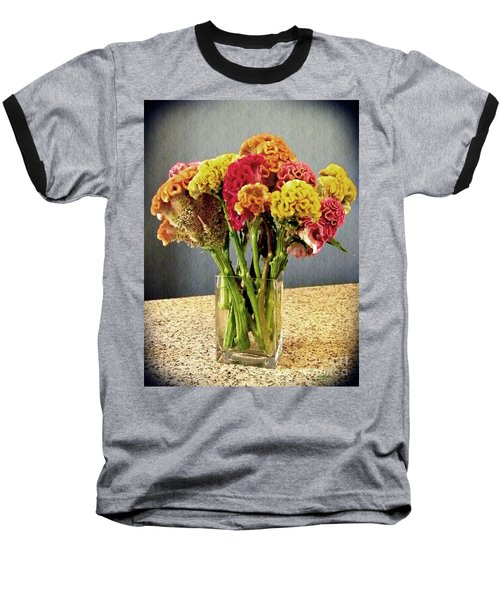 Baseball T-Shirt featuring the photograph Cockscomb Bouquet by Sarah Loft
