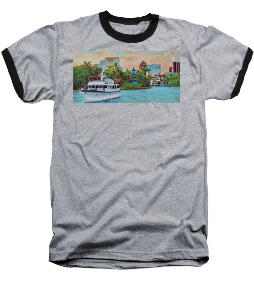Cocktails On The New River Baseball T-Shirt