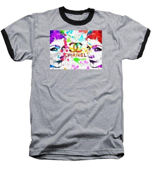 Coco Chanel Grunge Baseball T-Shirt by Daniel Janda