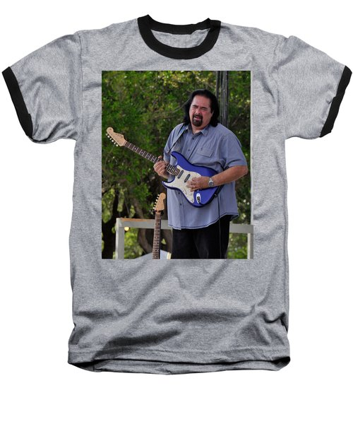 Coco Montoya And His Ocean Blue Fender American Standard Stratoc Baseball T-Shirt