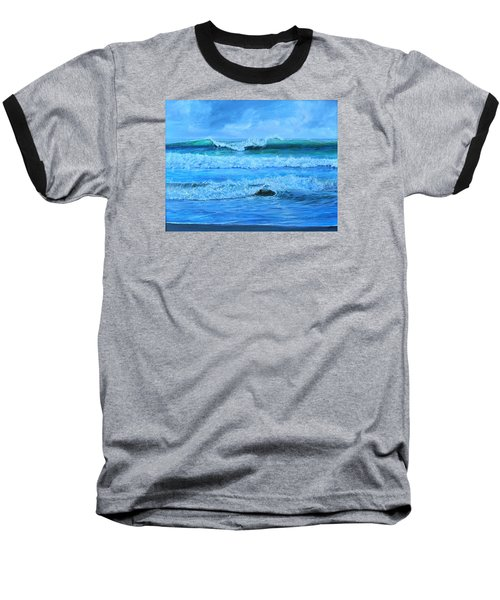 Baseball T-Shirt featuring the painting Cocoa Beach Surf by AnnaJo Vahle