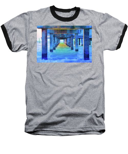 Cocoa Pier Baseball T-Shirt by Pamela Williams