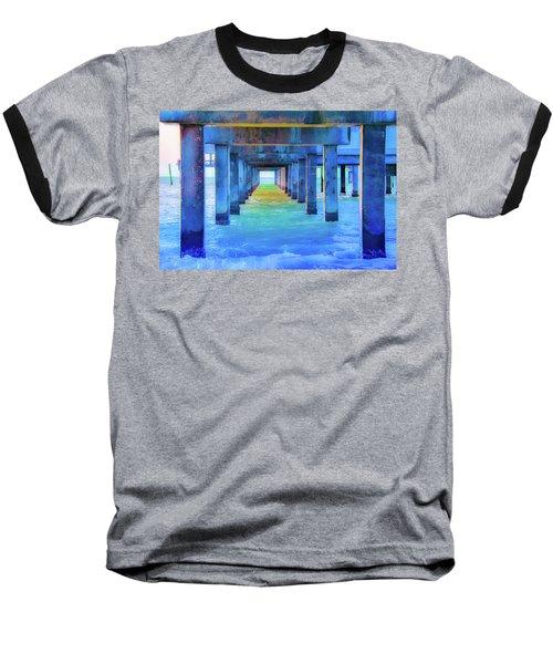 Cocoa Pier Baseball T-Shirt