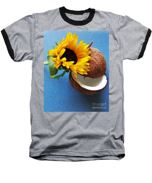 Coconut And Sunflower Harmony Baseball T-Shirt by Jasna Gopic
