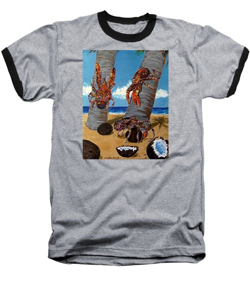 Coconut Crab Cluster Baseball T-Shirt