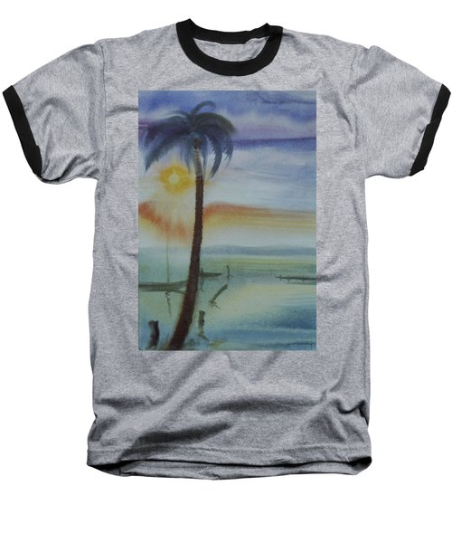 Coconut Palm Baseball T-Shirt