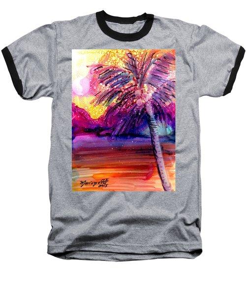 Coconut Palm Tree 2 Baseball T-Shirt by Marionette Taboniar