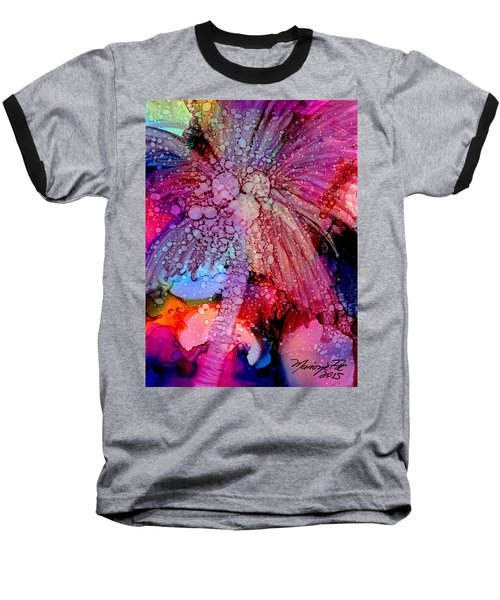 Baseball T-Shirt featuring the painting Coconut Palm Tree 4 by Marionette Taboniar