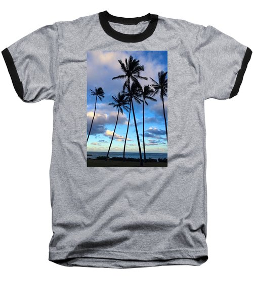 Coconut Palms Baseball T-Shirt by Brenda Pressnall