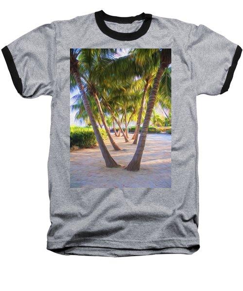 Coconut Palms Inn Beachfront Baseball T-Shirt