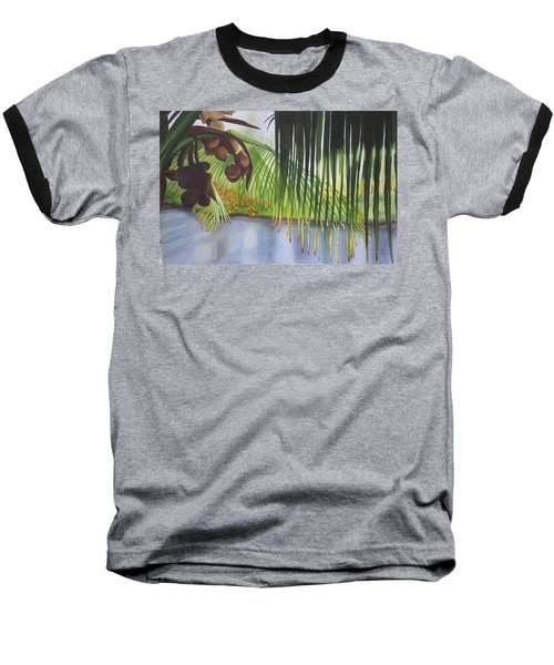 Baseball T-Shirt featuring the painting Coconut Tree by Teresa Beyer