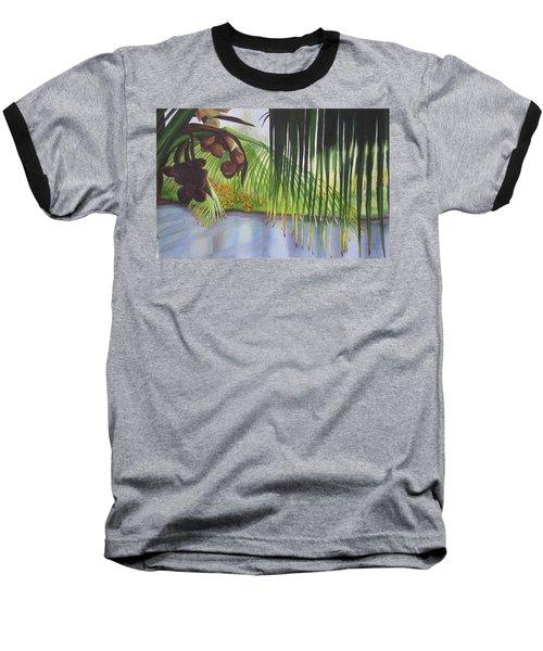Coconut Tree Baseball T-Shirt by Teresa Beyer