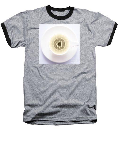 Coffe Foam Mandala Baseball T-Shirt by Klara Acel