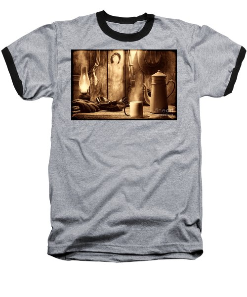 Coffee At The Cabin Baseball T-Shirt