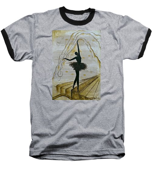 Coffee Ballerina Baseball T-Shirt