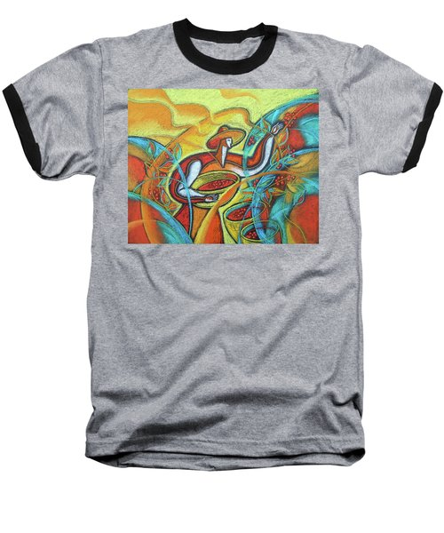 Baseball T-Shirt featuring the painting Coffee Bean Harvest by Leon Zernitsky