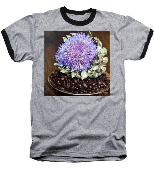 Coffee Beans And Blue Artichoke Baseball T-Shirt